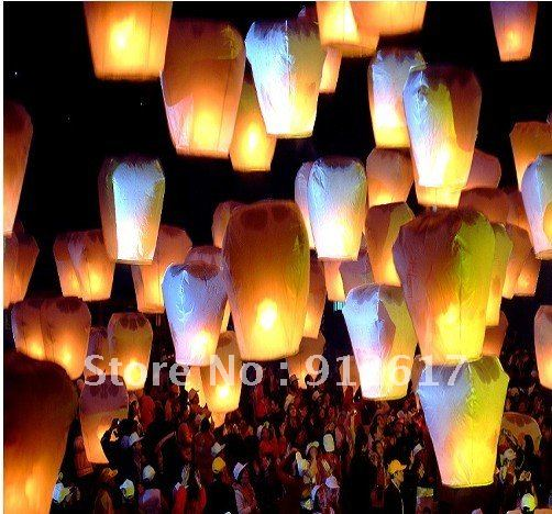 10 Chinese Flying Sky Lanterns UFO Wish Balloons Party(China (Mainland))