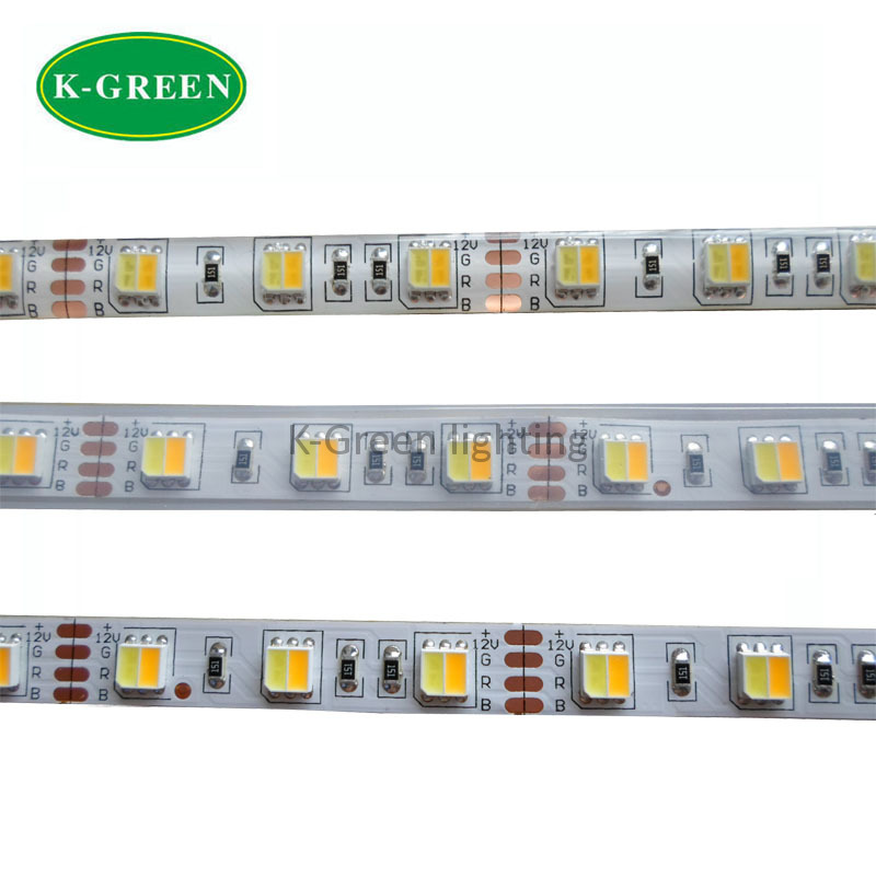 5mX High quality 5050SMD WW+CW LED strip color temperature adjustable DC12V/24V input 60LED/m CCT dimmer led strip free shipping(China (Mainland))