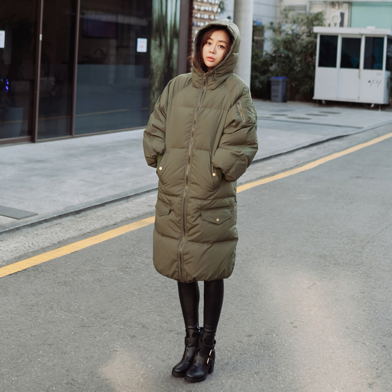 New Winter Jacket Woman's Outerwear Slim Hooded Cotton Wadded Jacket Woman Warm Cotton Coat Women Casual Long Parka C1310