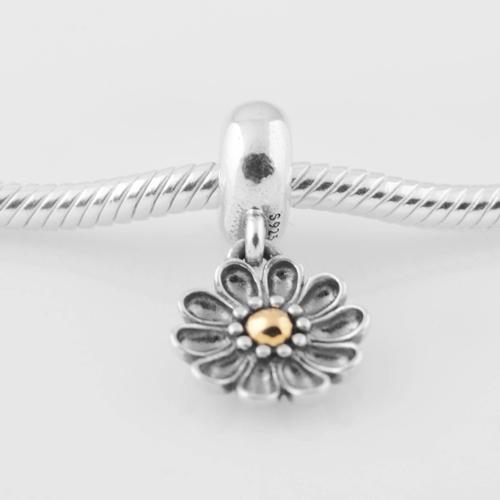 Подходит пандора подвески браслет 925 чистое серебро бусины Sunflower узор европейский подвески-талисманы своими руками ювелирные изделия выводы