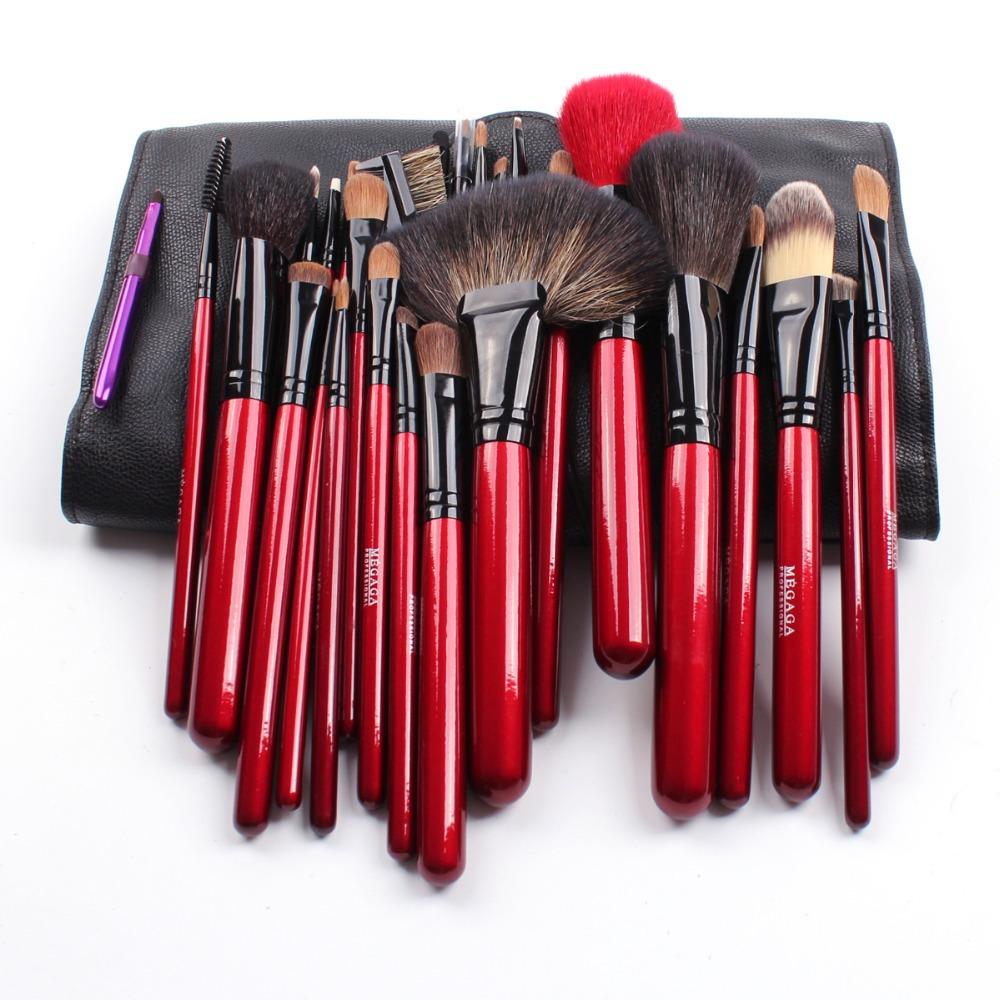Makeup Brushes 26pcs/set Wolf+Goat Hair Blusher Eye Shadow Lip Brushes Set Kit<br><br>Aliexpress