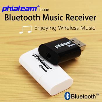 Hot sale  Phiateam PT-810 Bluetooth USB Dongle  Wireless Receiver Adapter 3.5mm Stereo Music for iphone ipad Speakers