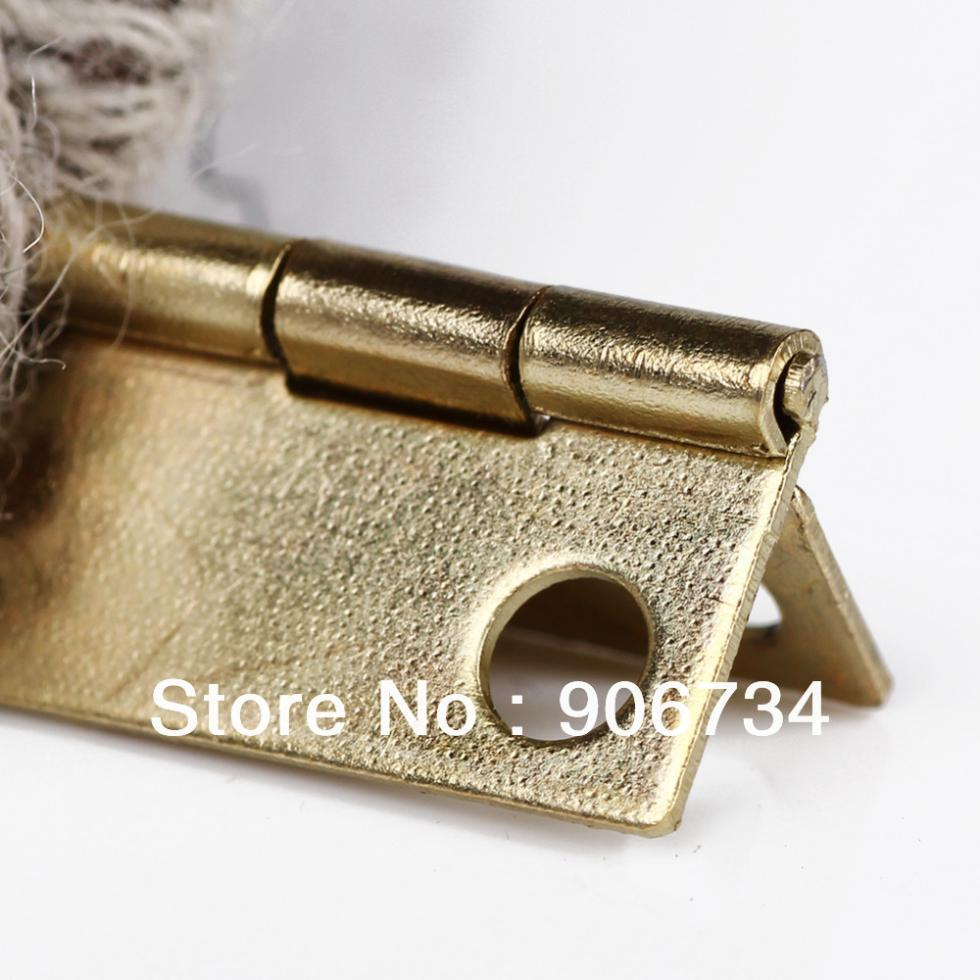 New Free Shipping High Quality 10Pcs Door Butt Hinge  Mini Iron Hinges Cabinet  Drawer on Sale <br><br>Aliexpress