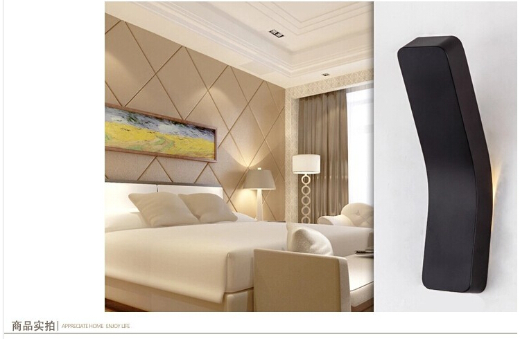 Light Wall Sconce, White/Black Modern LED Wall Lamp For Bed Home Lighting<br><br>Aliexpress
