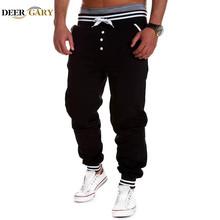 Harem del nuevo estilo de moda 2015 ocasional flaco pantalones deportivos pantalones deportivos pantalones tiro caído Jogging Pants Men Joggers Sarouel(China (Mainland))