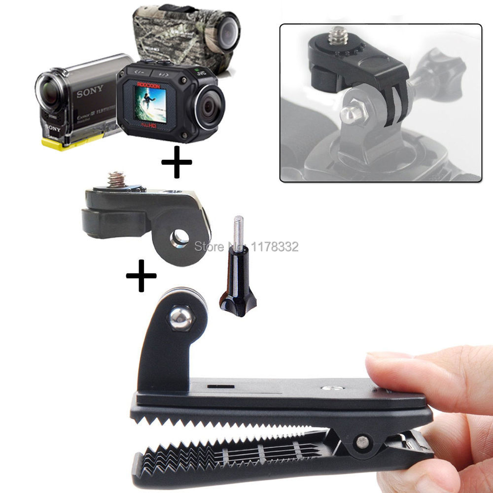 3in1 1set Belt Bag Cap Clip Mount / long screw / mount adapter For Sony Action Cam HDR AS20 AS15 AS100V AS30V AZ1(China (Mainland))