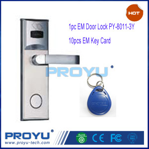 EM/ID RF Card Door Lock with 10pcs EM/ID key card PY--8011-3Y kit used for home and office(China (Mainland))