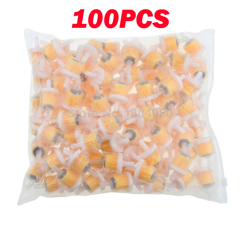 100PCS Small Engine Industrial Universal Bike Motorcycle Gas Filters Fuel FILTE 6.5mm Plastic Inline Fuel Gasoline Filter(China (Mainland))