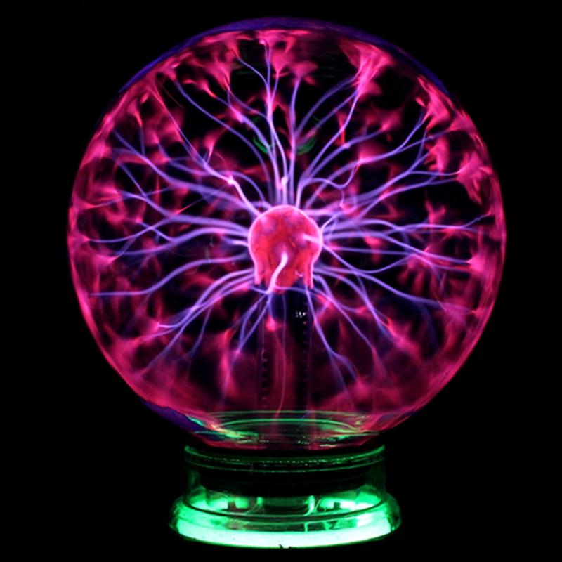 Magic Plasma Ball Sphere Light 3 4 5 6 inch Table Light Night Lamp Kids Room Gift Box Novelty Crystal Magic Plasma Ball Lighting(China (Mainland))