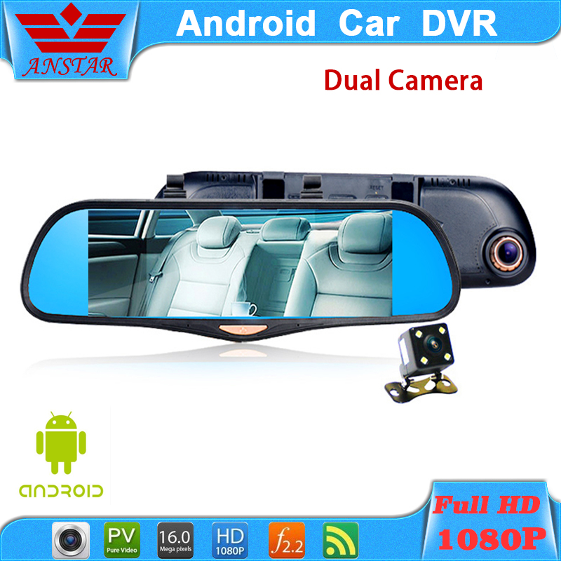 "ANSTAR HOT 6.86""Touch RAM 1GB ROM 16GB 2 Split View Android GPS Navigation Mirror Car DVR dual lens camera rear parking WiFi FM(China (Mainland))"