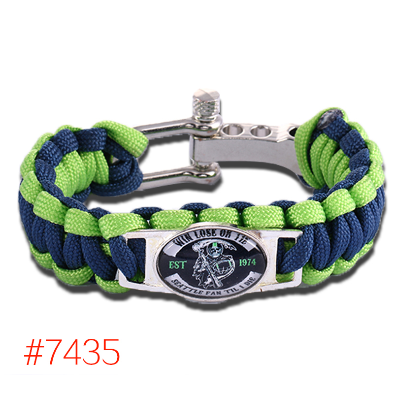 Win Lose Or Tie Seattle Til I Die Paracord Bracelet Survival Bracelet NFL Fans Unique Handmade Jewelry, Free Shipping! #7435(China (Mainland))