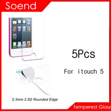5Pcs/Lot Tempered Glass Screen Protector For iPod Touch iTouch 5 Protection Cover Toughened Protective Guard Film With Package 2