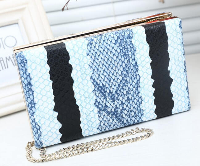 2015 Fashion Snakeskin Pattern Clutch Bag Women Evening Bag Party Day Clutches Chain Shoulder Bag Crossbody Bags Purses A823 <br><br>Aliexpress