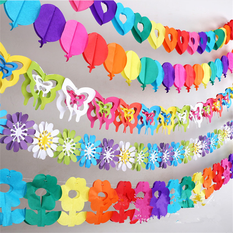 Colorful Baby Shower Paper Flowers Event Party Supplies