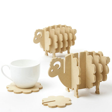 Non-slip Wooden coasters creative Place mat/office supplies coffee cup Mat Home Decor DIY handmade coaster simple animal shapes(China (Mainland))
