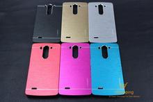 Ultra Thin Motomo Aluminum Brush Hard Metal Case for LG G3 Mini G3S D722 D725 D728 D724 Cover Protective Mobile Phone Case