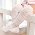 Spring Summer Baby socks for girls boys Newborn Toddler Knee High Lace Sock Candy Color Leg