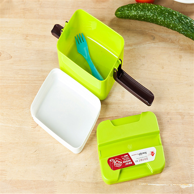 Microwave Magic Kitchen Food Container Kids children School Office Oven Bento Container Case Double Layer Lunch Box Dinnerware(China (Mainland))