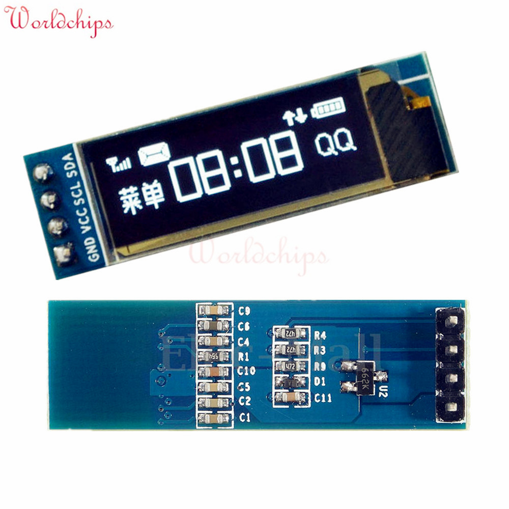 Free Shipping 0.91 Inch 128x32 IIC I2C White OLED LCD Display DIY Oled Module SSD1306 Driver IC DC 3.3V 5V For Arduino PIC(China (Mainland))