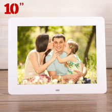 "10.0"" HD 10inch High Resolution Digital Photo Picture Frame Alarm Clock MP3 MP4 Movie Ads Player Menu Controller Christmas Gift(China (Mainland))"