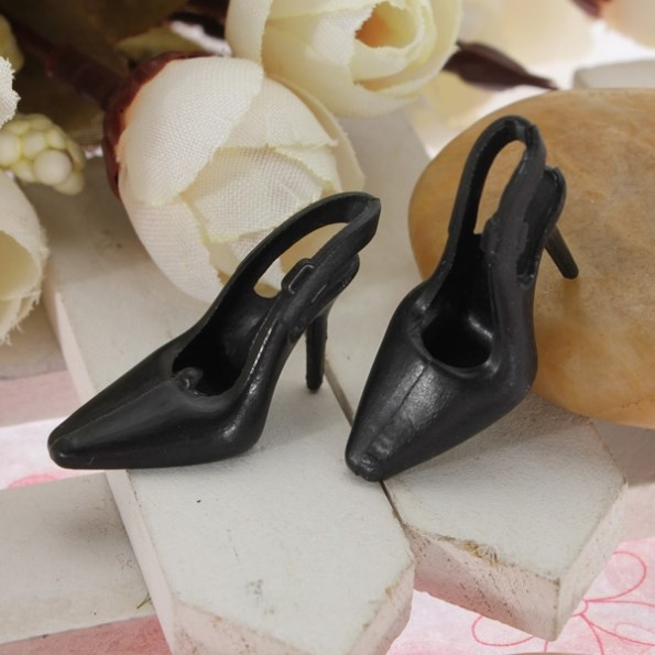 NEW 10 Pairs/lot Trend Dolls Heels Sandals Set For Barbie Doll Footwear Colthes Costume 1×2.5cm