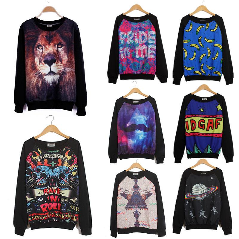 Женские толстовки и Кофты Unbrand 3D Sweatshirts женские толстовки и кофты new brand 3d a30053