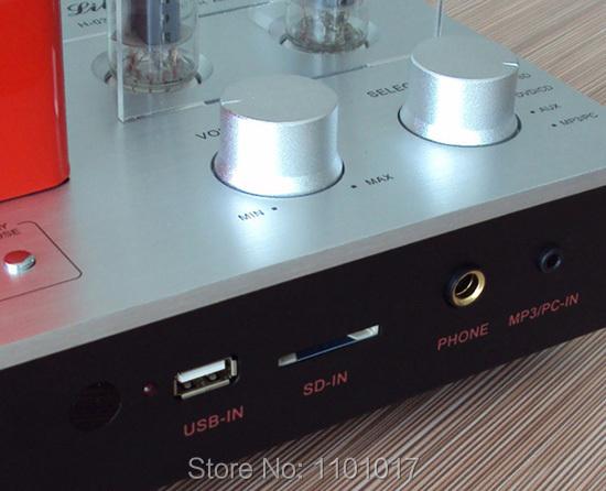 Xiangsheng H-03A hybrid 6F1 tube amplifier HIFI EXQUIS mp3 player USB key SD card Decoder pre-amplifier headphone amp