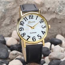 Factory price Women Retro Digital Dial Leather Band Quartz Analog Wrist Watch Watches JUL15