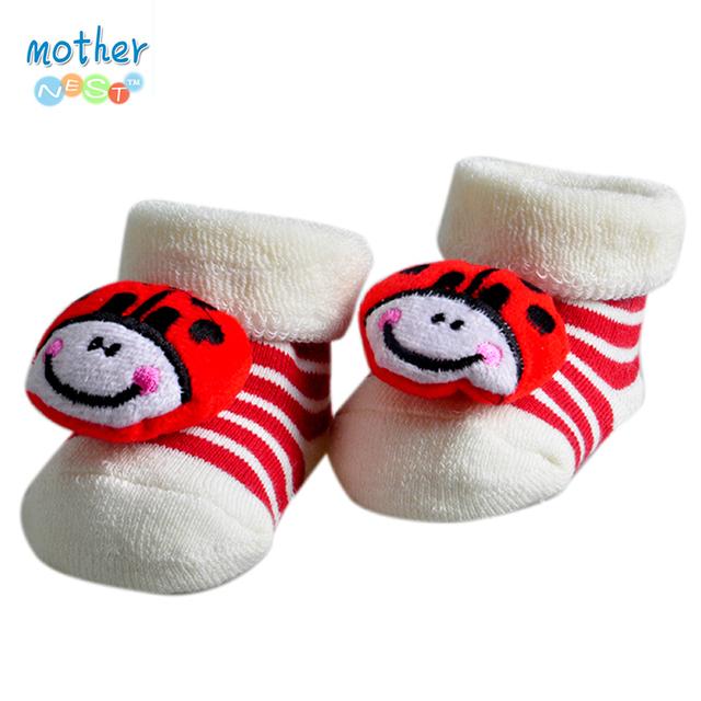 Один пары ребенок носки новорожденного Meias махровые животных цыпленок носки детские ...