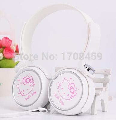 FAST shipping hot selling new cartoon headphones ,Hellokitty earphones,Heavy bass headset gift for children(China (Mainland))