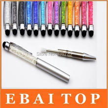 1000pcs 2 in 1 Crystal Diamonds Capacitive Touch Metal Stylus Ball Pen Clip Design for iPhone iPad Tablet Samsung Note(China (Mainland))
