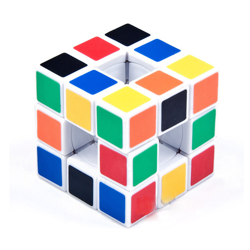 Hollow Puzzle magic cube Speed Cube White 3x3x3 Magic Cube Educational Toy for Kids Chirldren present for kids FreeShipping 1pcs(China (Mainland))
