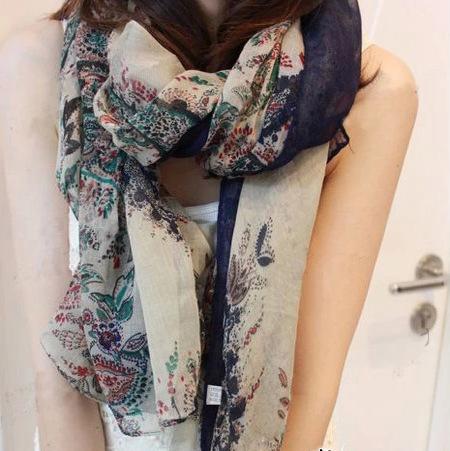 Гаджет  2014 female bufandas desigual brand scarf large scarf women winter warm scarves pashmina shawl fields and gardens floral scarf None Одежда и аксессуары