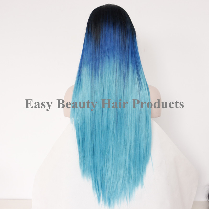 Aliexpress.com : Buy Dark Roots Light Blue Green Three ...