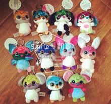 11pcs/Lot NICI Nicidoos Plush Keychain keyring Slucky Crazy bat rabbit mouse penguin dog tiger Pendant for Bags , Free shipping (China (Mainland))