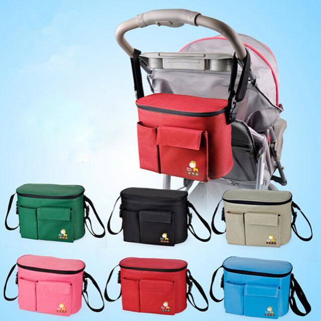 Мода коляска организатор корзиной коляска путешествия пеленки подгузники мешок хранения ...