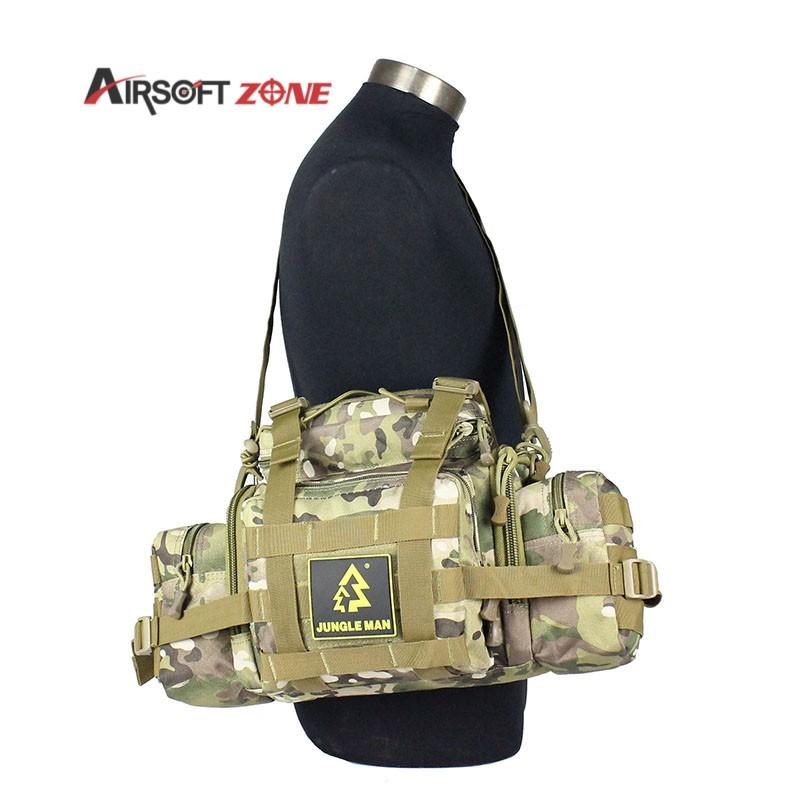 Military Waist Shoulder Tote Bag Trekking Ripstop Crossbody 10L Large Capacity Big Size Waist Bag Trekking Ripstop for Hunting