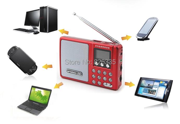 Portable Multifunction FM Radio Music Player Sound Amplifier Digital Alarm Clock Desktop Indoor Decoration SV932