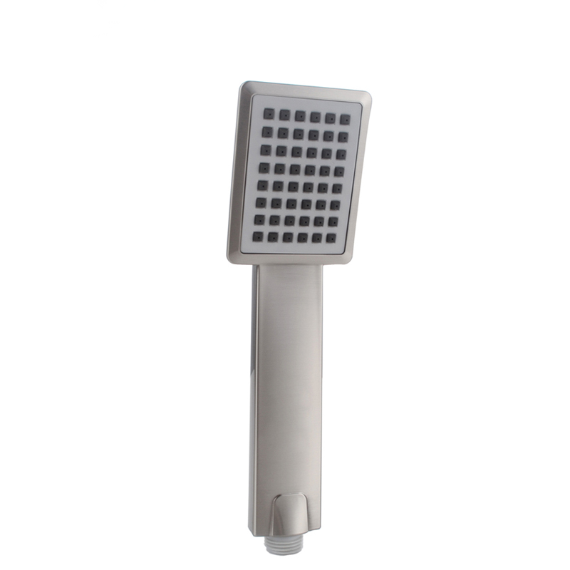 Contemporary Water Save Ultra Thin Pressurized Gray Square Cozy ABS Handheld Shower Bath Shower Head For Bathroom Product(China (Mainland))