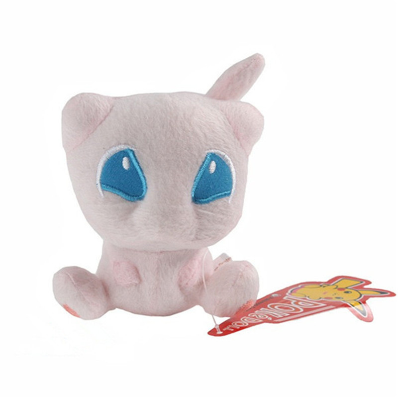 Wholesale Pokemon Plush Toys 12cm Mew Cute Stuffed Plush Animals Toy Dolls For Children Best Birthday Gift GOD020(China (Mainland))