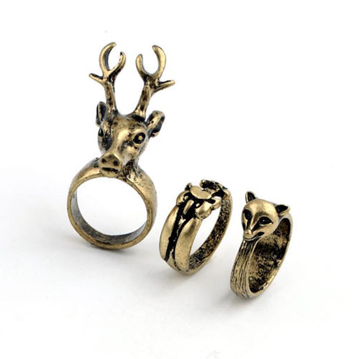 online kaufen gro handel fashion deer head ring aus china fashion deer head ring gro h ndler. Black Bedroom Furniture Sets. Home Design Ideas
