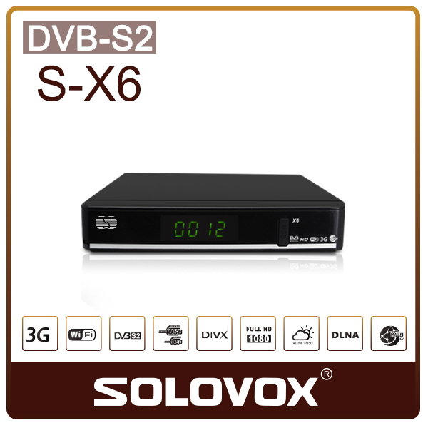 New Arrival 5pc S- X6 Satellite Receiver/ TV Box Support 2 USB WEB TV IPTV Youtube Card Sharing 3G modem Free Shipping(China (Mainland))