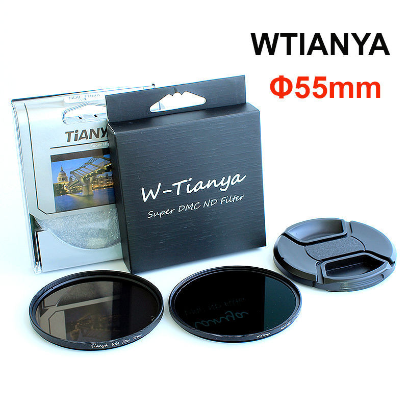 WTINAYA ND 8 ND 1000 ND Filter 55mm for Digital SLR Camera Lens ( ND8 0.9 + ND1000 3.0 Neutral Density + Lens Cap )(China (Mainland))