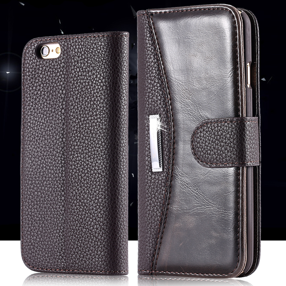 Fashion Classic Business Style PU Leather Case Apple iPhone 6 4.7 inch Wallet Pouch Card Holder Phone Cover - RCD Trading Company store