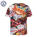 Mr BaoLong brand Plus Size L 3XL Vegas Games print t shirt men summer style short