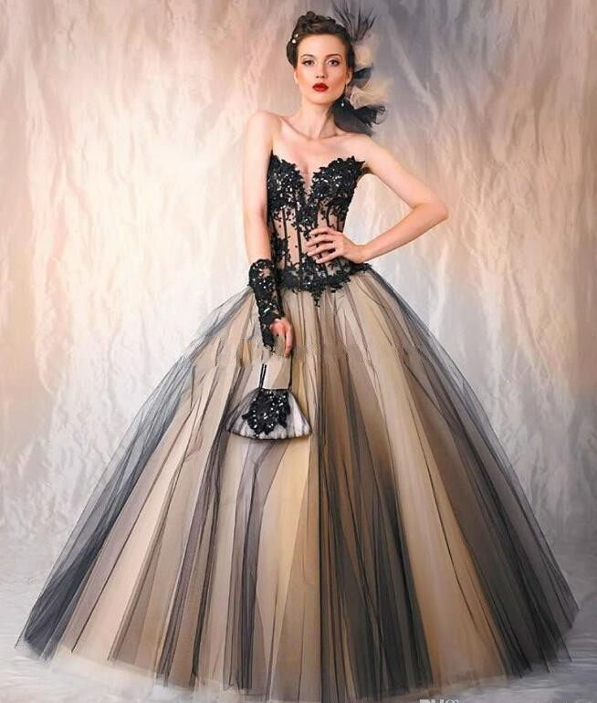 Cor Gothic Dresses Bride 2015 Sweetheart Y4fTSq