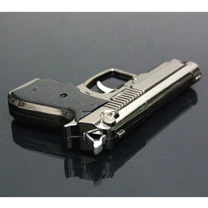 Cool Gun Cigarette Lighter Gas Novelty Gadgets Pistol Electronic Lighters Windproof Torch Lighter Refillable Metal Flame lighter(China (Mainland))