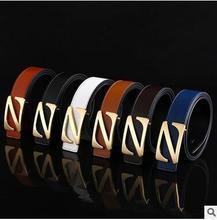 2016 New han edition men fashion belt Z gold buckle belt