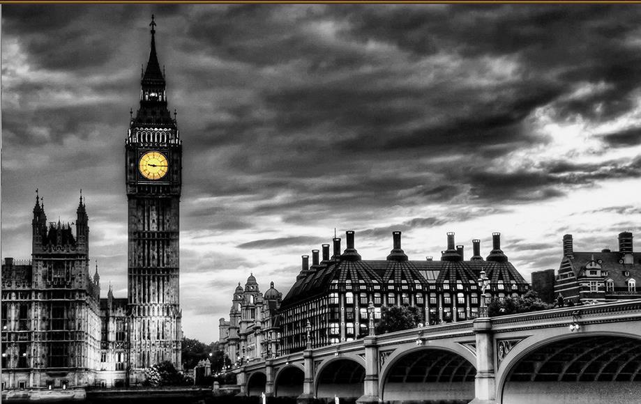 3d wallpaper walls custom 3d wallpaper living room London, Big Ben black and white landscape 3d murals wallpaper(China (Mainland))