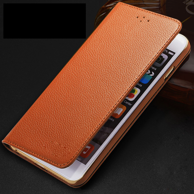 Top cowhide Business Style Genuine Leather Phone Case For Lenovo PHAB Plus 6.8 inch High Quality Luxury Mobile Phone Case(China (Mainland))